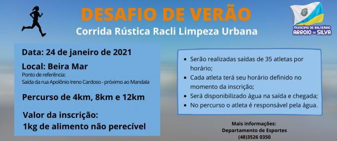 CORRIDA RÚSTICA RACLI LIMPEZA URBANA - DESAFIO DE VERÃO