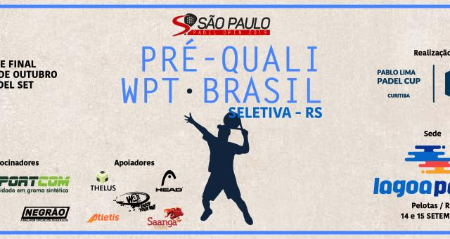 Pré-quali PABLO LIMA CUP - BRASIL - Seletiva RS