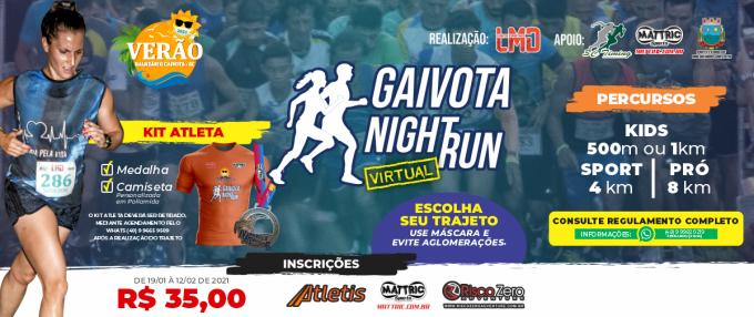 Gaivota Night Run - Virtual