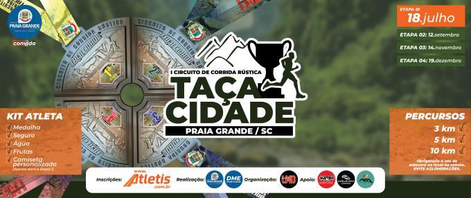 1ª Etapa - Circuito de Corrida de Rua - Taça Cidade - Praia Grande SC