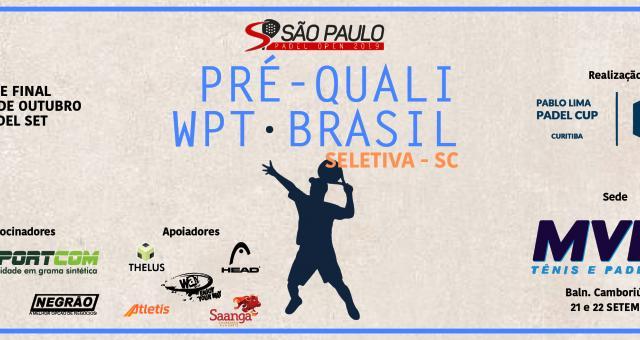 Pré-quali PABLO LIMA CUP - BRASIL - Seletiva SC